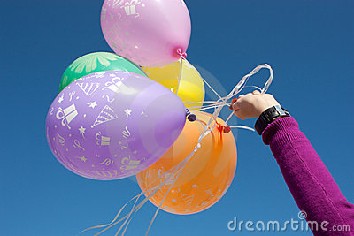 Hand with a balloons