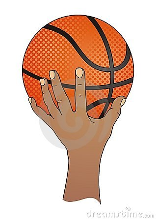 Hand with Basketball