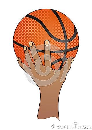 Hand with Basketball