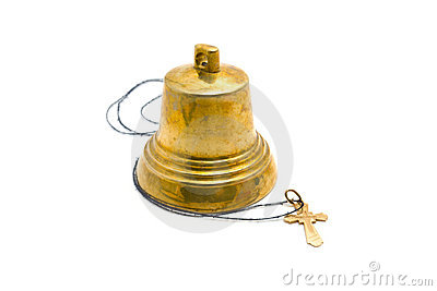 Hand bell and dagger