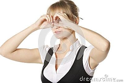 Hand binoculars