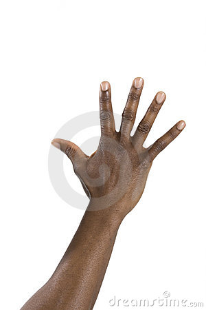 Hand of Black Man