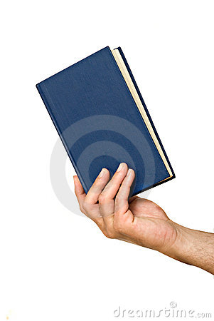 Hand with book