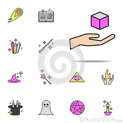 hand with box icon. magic icons universal set for web and mobile Stock Photo