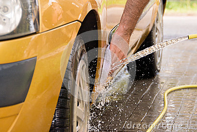 Hand car wash - side bottom front