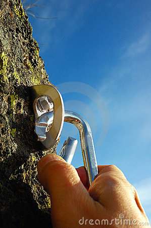 Free Hand Carabiner Stock Photography - 1436242