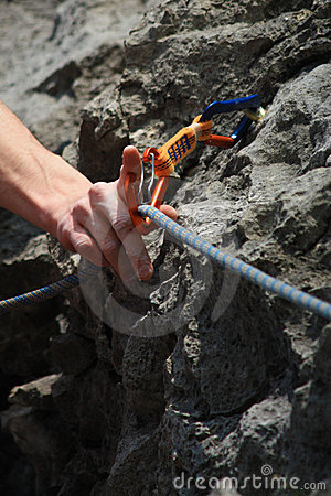 Hand caring for safety - climbing