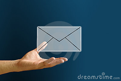Hand carry the mail icon, Email Concept