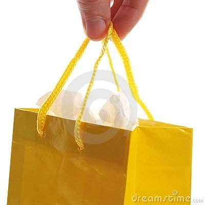 Hand carry  a shopping bag