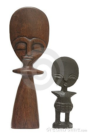 Hand carved Kenyan statues