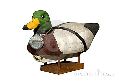 Hand carved Mallard Drake Decoy Duck