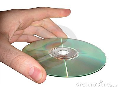 Hand and CD