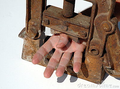 Hand clamped