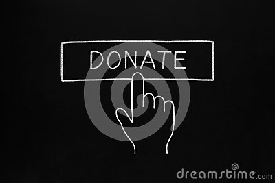 Hand Clicking Donate Button