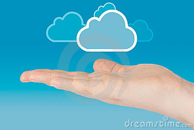 Hand with cloud