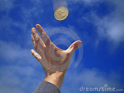 Hand / Coin Stock Images - Image: 132154