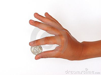 Hand with a coin 2