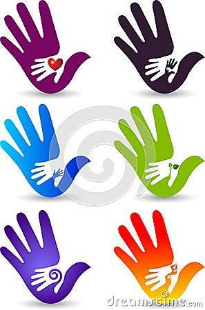 Hand collection logos