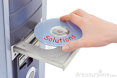 Hand and computer disk solution