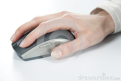 Hand And Computer Mouse Royalty Free Stock Photos - Image: 28642888