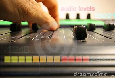 Hand controlling faders