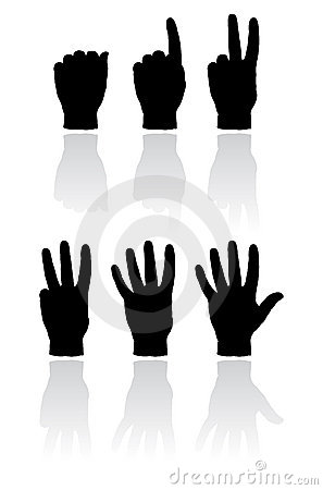 Free Hand Count Illustration Stock Photography - 4376402