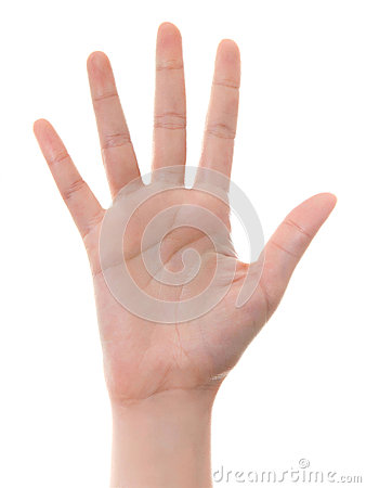 Hand counting: five