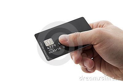 Hand With Credit Card Stock Photo - Image: 14266280