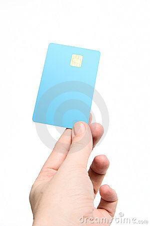 Hand with credit card