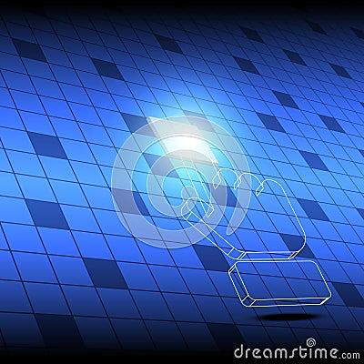 Hand cursor click square button