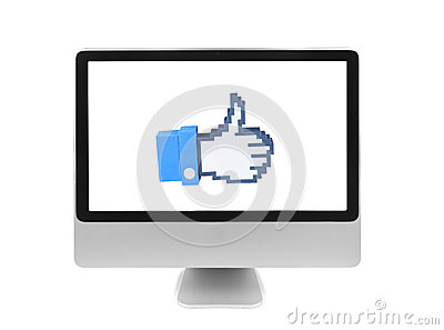 Hand cursor in a computer Editorial Stock Image