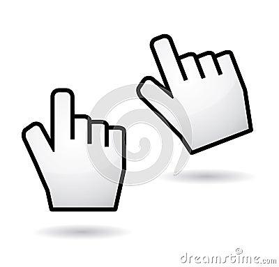 Hand cursors