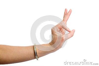 Hand demonstrating gesture