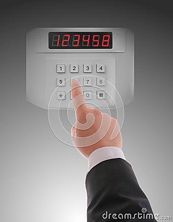 Hand dialling on keypad