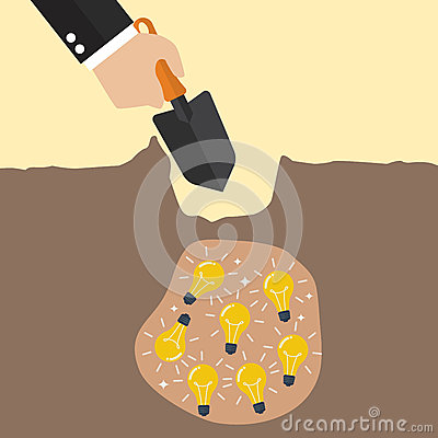 Free Hand Dig A Ground To Find A Treasure Stock Images - 66030074