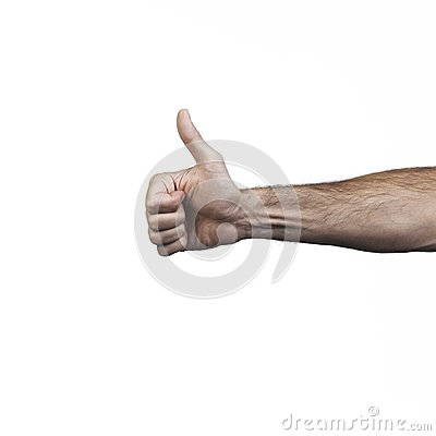 Hand doing signs