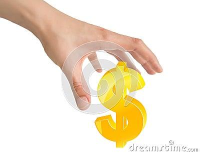Hand and dollar