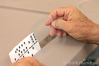 A hand of Dominos