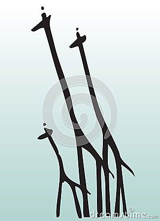 Free Hand Draw Animal Giraffe Stock Images - 7466334