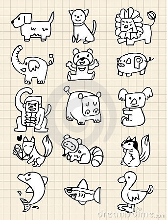 Hand draw animals