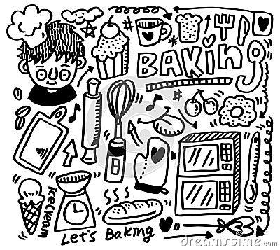 Hand draw baking element