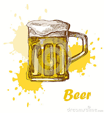 Hand draw beer