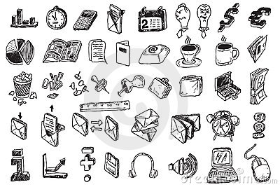 Hand draw business elements