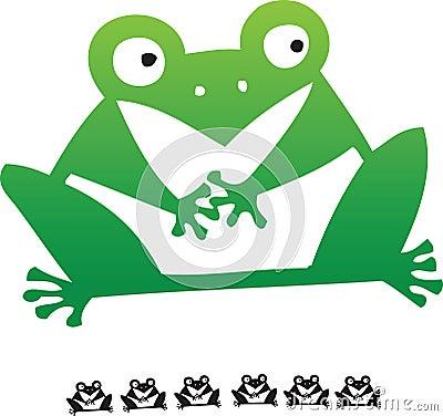 Free Hand Draw Cartoon Frog Royalty Free Stock Photography - 7420927