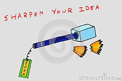 Hand draw conceptual sketch, Sharpen Your Idea