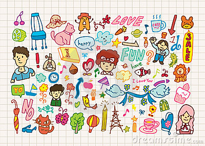 Hand draw cute cartoon element