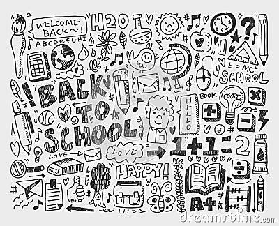 Hand draw doodle school element
