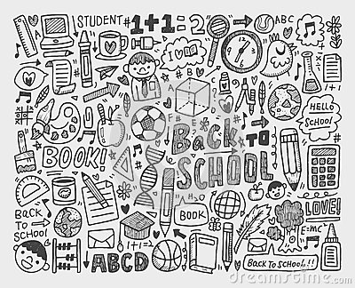 Hand draw doodle school element
