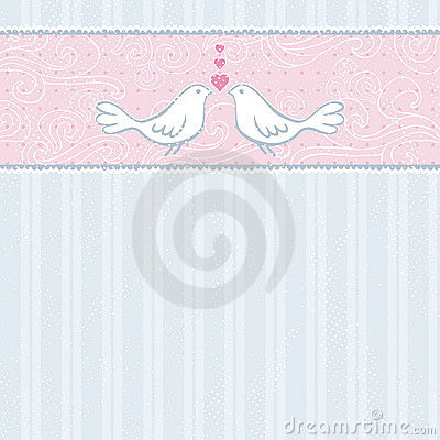 Free Hand Draw Doves Grey Striped Background Royalty Free Stock Photos - 17726038