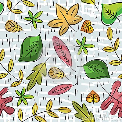 Hand draw  leafs suitable wrapping paper